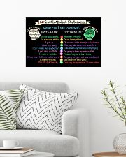 Classroom Poster - Teach Growth Mindset Poster 24x16 Poster poster-landscape-24x16-lifestyle-01
