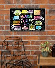 Math Poster - Math Is My Jam - Song  24x16 Poster poster-landscape-24x16-lifestyle-24