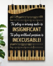 Music - Piano - Play a wrong note is insignificant 16x24 Poster aos-poster-portrait-16x24-lifestyle-17