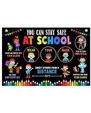 Classroom Poster - Stay Safe At School 24x16 Poster front