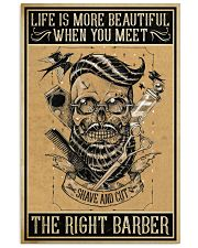 Barber Poster - Life is more beautiful 11x17 Poster front