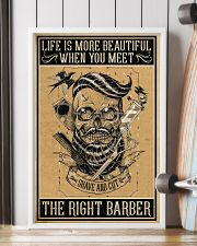 Barber Poster - Life is more beautiful 11x17 Poster lifestyle-poster-4