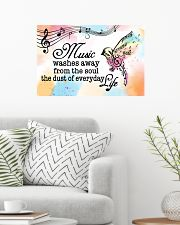Teacher Poster - Music Washes Way From The Soul 24x16 Poster poster-landscape-24x16-lifestyle-01
