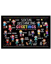 Social Distancing Greetings Poster - 6 Feet Away 24x16 Poster front