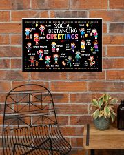 Social Distancing Greetings Poster - 6 Feet Away 24x16 Poster poster-landscape-24x16-lifestyle-24