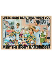 Hairdresser - Life is more beautiful 24x16 Poster front