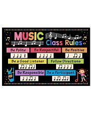 Music Poster - Music Class Rules 24x16 Poster front