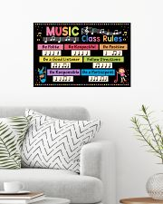 Music Poster - Music Class Rules 24x16 Poster poster-landscape-24x16-lifestyle-01