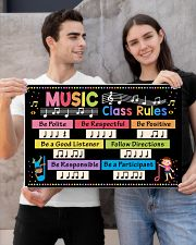 Music Poster - Music Class Rules 24x16 Poster poster-landscape-24x16-lifestyle-21