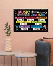 Music Poster - Music Class Rules 24x16 Poster poster-landscape-24x16-lifestyle-22