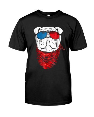 English Bulldog Led T Shirt Sound Activated Glow L
