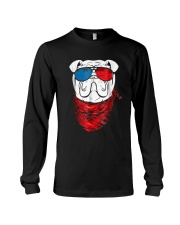 English Bulldog Led T Shirt Sound Activated Glow L Long Sleeve Tee tile