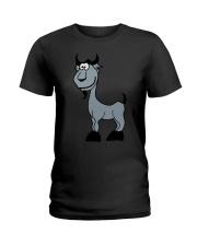 Goat Capricorn Zodiac Animal Comic Ladies T-Shirt thumbnail