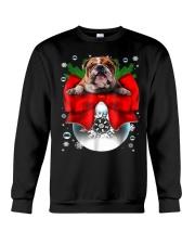 English Bulldog Christmas T Shirt Funny Gifts For  Crewneck Sweatshirt thumbnail