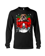 English Bulldog Christmas T Shirt Funny Gifts For  Long Sleeve Tee thumbnail