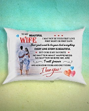 TO MY WIFE - NEVER FORGET THAT I LOVE YOU Rectangular Pillowcase aos-pillow-rectangle-front-lifestyle-3