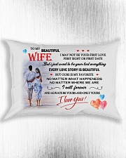 TO MY WIFE - NEVER FORGET THAT I LOVE YOU Rectangular Pillowcase aos-pillow-rectangle-front-lifestyle-4