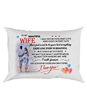 TO MY WIFE - NEVER FORGET THAT I LOVE YOU Rectangular Pillowcase front