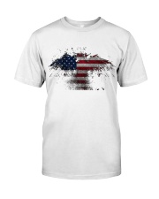 USA Independence Day USA Flag Eagle Patriot Premium Fit Mens Tee thumbnail