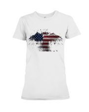 USA Independence Day USA Flag Eagle Patriot Premium Fit Ladies Tee thumbnail