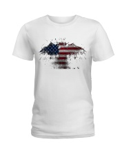 USA Independence Day USA Flag Eagle Patriot Ladies T-Shirt thumbnail