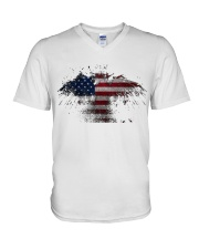 USA Independence Day USA Flag Eagle Patriot V-Neck T-Shirt thumbnail