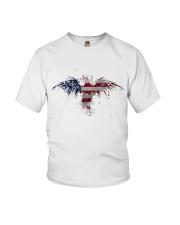 USA Independence Day Celebrate USA Flag Eagle Youth T-Shirt thumbnail