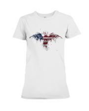 USA Independence Day Celebrate USA Flag Eagle Premium Fit Ladies Tee thumbnail