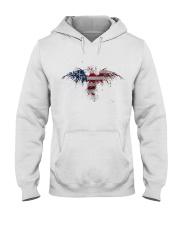 USA Independence Day Celebrate USA Flag Eagle Hooded Sweatshirt thumbnail