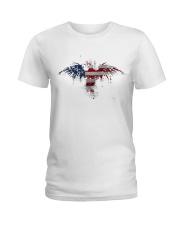 USA Independence Day Celebrate USA Flag Eagle Ladies T-Shirt thumbnail