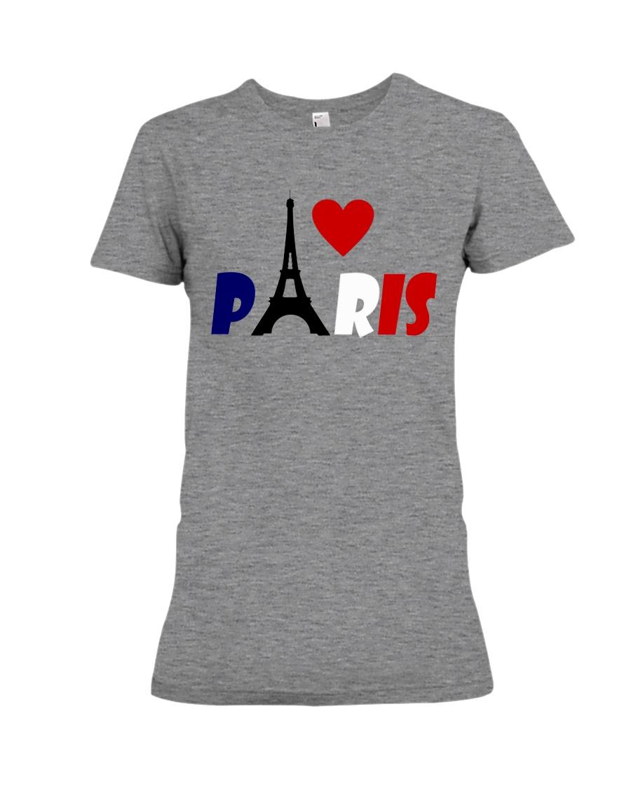 i love Paris Premium Fit Ladies Tee