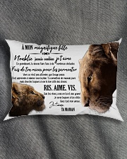 A Mon Incroyable Fille Rectangular Pillowcase aos-pillow-rectangle-front-lifestyle-1