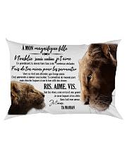 A Mon Incroyable Fille Rectangular Pillowcase back