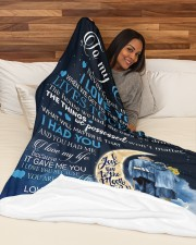 """To my wife - never forget that i love you Large Fleece Blanket - 60"""" x 80"""" aos-coral-fleece-blanket-60x80-lifestyle-front-03a"""