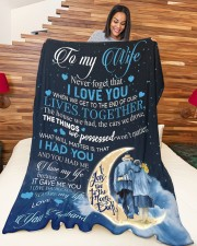 """To my wife - never forget that i love you Large Fleece Blanket - 60"""" x 80"""" aos-coral-fleece-blanket-60x80-lifestyle-front-04a"""