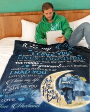 """To my wife - never forget that i love you Large Fleece Blanket - 60"""" x 80"""" aos-coral-fleece-blanket-60x80-lifestyle-front-06"""