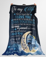 """To my wife - never forget that i love you Large Fleece Blanket - 60"""" x 80"""" aos-coral-fleece-blanket-60x80-lifestyle-front-10"""
