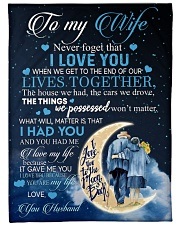 """To my wife - never forget that i love you Large Fleece Blanket - 60"""" x 80"""" front"""