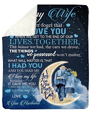 To my wife - never forget that i love you Sherpa Fleece Blanket tile