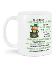PERSONALIZED MUG: Gift For son in law Mug back
