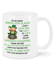 PERSONALIZED MUG: Gift For son in law Mug front