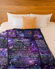 """to my daughter - never forget how much i love you Large Fleece Blanket - 60"""" x 80"""" aos-coral-fleece-blanket-60x80-lifestyle-front-02a"""