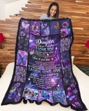 """to my daughter - never forget how much i love you Large Fleece Blanket - 60"""" x 80"""" aos-coral-fleece-blanket-60x80-lifestyle-front-04a"""