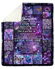 to my daughter - never forget how much i love you Sherpa Fleece Blanket tile
