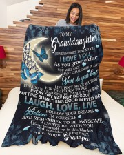 """to my granddaughter Large Fleece Blanket - 60"""" x 80"""" aos-coral-fleece-blanket-60x80-lifestyle-front-04a"""