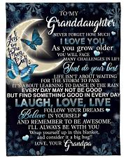 "to my granddaughter Large Fleece Blanket - 60"" x 80"" front"