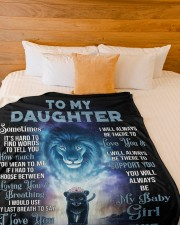 """To my daughter - my baby girl  Large Fleece Blanket - 60"""" x 80"""" aos-coral-fleece-blanket-60x80-lifestyle-front-02a"""
