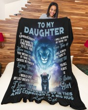 """To my daughter - my baby girl  Large Fleece Blanket - 60"""" x 80"""" aos-coral-fleece-blanket-60x80-lifestyle-front-04a"""