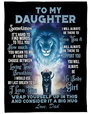 """To my daughter - my baby girl  Large Fleece Blanket - 60"""" x 80"""" front"""