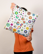 "Rainbow Stars and flowers Pillow  Indoor Pillow - 16"" x 16"" aos-decorative-pillow-lifestyle-front-02"